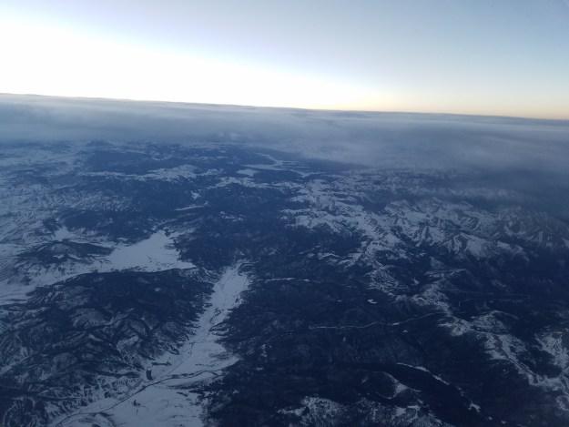 view from plane window flight to vegas