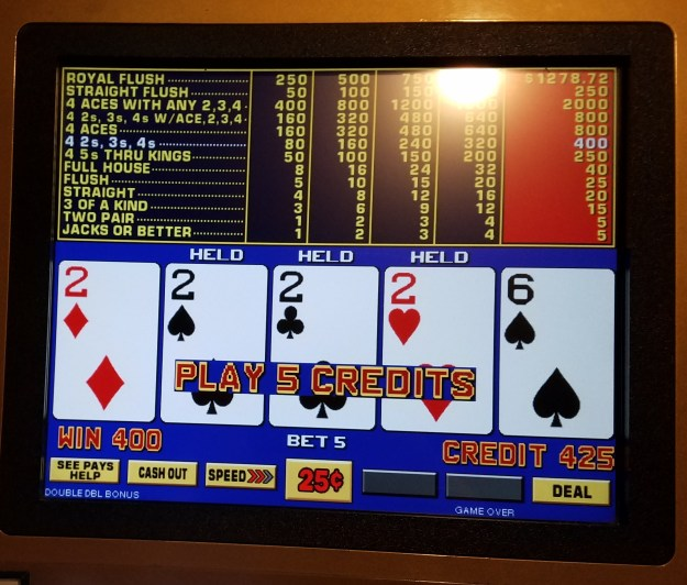 quarter twos main street station video poker las vegas