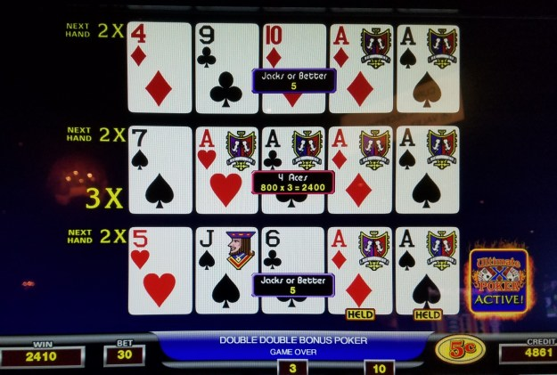 Ultimate X double double bonus video poker aces x 3 cromwell las vegas