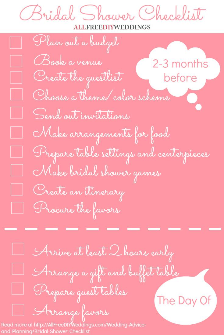 Fullsize Of Bridal Shower Checklist