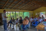 Ganaderos discuss with local partner, REDDOM, the progress of the season and payout results from February and March 2014. Photo: Radost Stanimirova/IRI