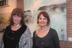 Artists Catherine Ryan and Mary O'Connor at the gallery opening (photo Liam Madden)