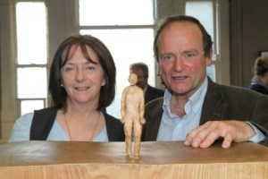 Cllr Lettie McCarthy and Sculptor Conleth Gent at the exhibition opening (Photo Liam Madden)