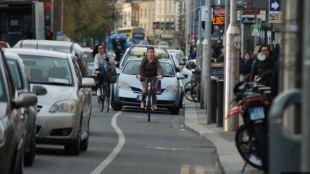 Parking cycle lane