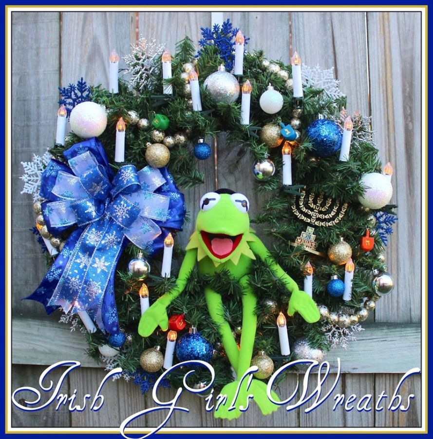 Kermit the Frog Hanukkah Wreath