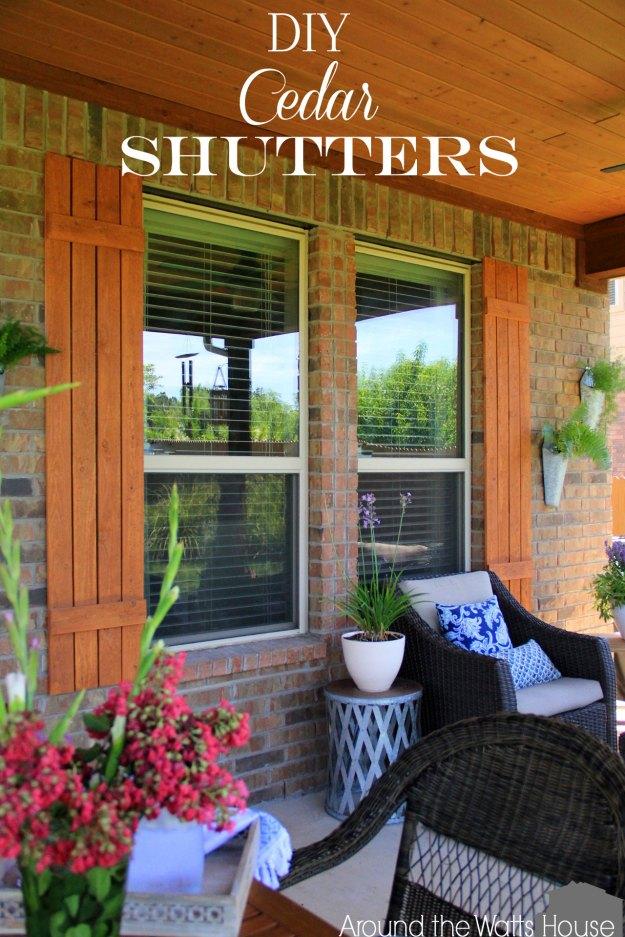 Diy Cedar Shutters Iris Nacole