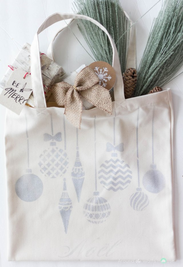 Holiday Tote Bag Tutorial-Cutting Edge Stencils