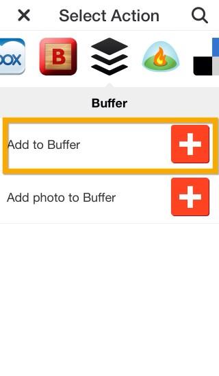 IFTTTアクションBuffer