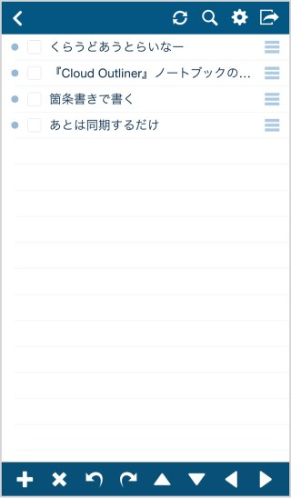 Cloud Outlinerでの表示
