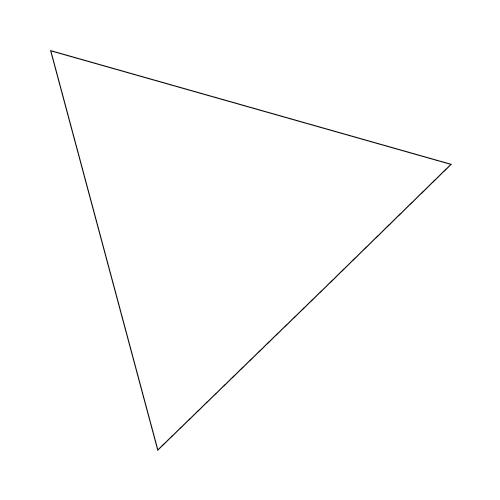 手順5:内接する最大の正三角形完成