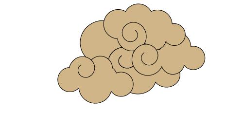 画:雲を追加