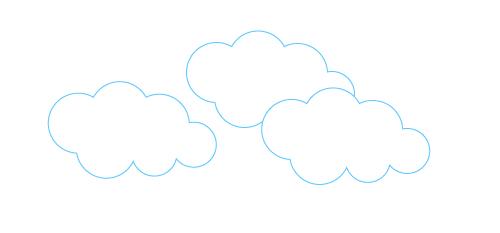 画:洋風な雲