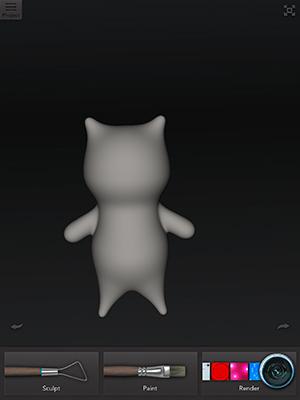 キャプチャ:123D Creatureで作った猫