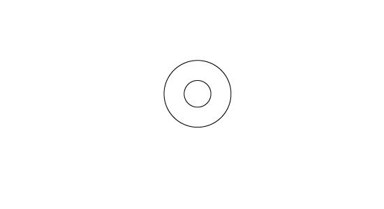目と同じ要領で円を二つ重ねます
