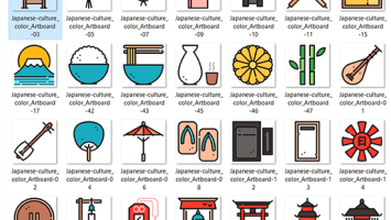 Japan Culture Vector Set