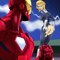 There is nothing can stop Iron Man... except for hot blonde with naked ass!