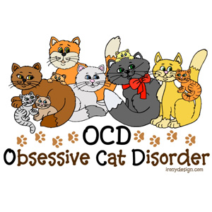 OCD Obsessive Cat Disorder Apparel and Products