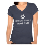 I'm Not Single I have a Dog or Cat Shirts. Shirts for Single People