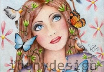 Woman Birds and Butterflies Gifts