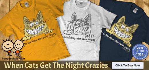 Cat Gets The Night Crazies Cat Lovers Merchandise