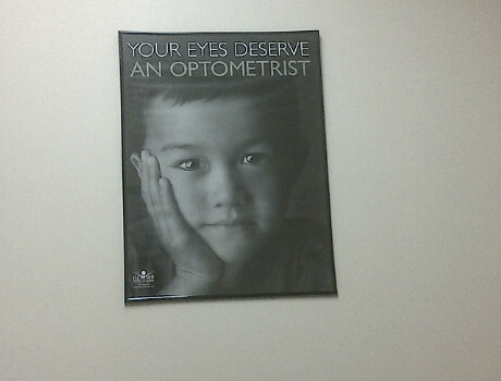 your eyes deserve an optometrist poster