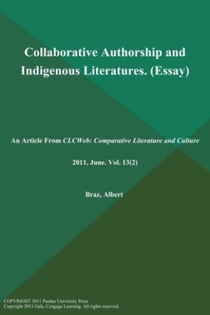 read online Collaborative Authorship and Indigenous Literatures (Essay)