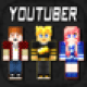 3D Youtuber Skins Collection Pro - Pixel Texture Exporter for Minecraft Pocket Edition Lite