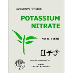 Small Crop Of Potassium Nitrate Fertilizer
