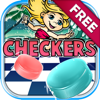 """Supansa Potong - Checkers Board Puzzle Free - """" The Little Mermaid Games with Friends Edition """" アートワーク"""