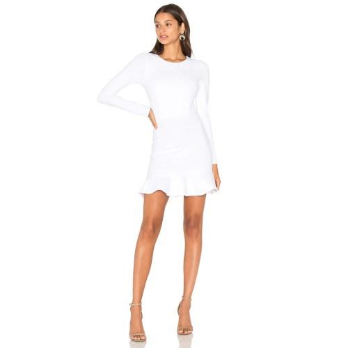 Medium Crop Of Long Sleeve White Dress