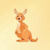 Tung Huynh - Kangaroos Stickers アートワーク
