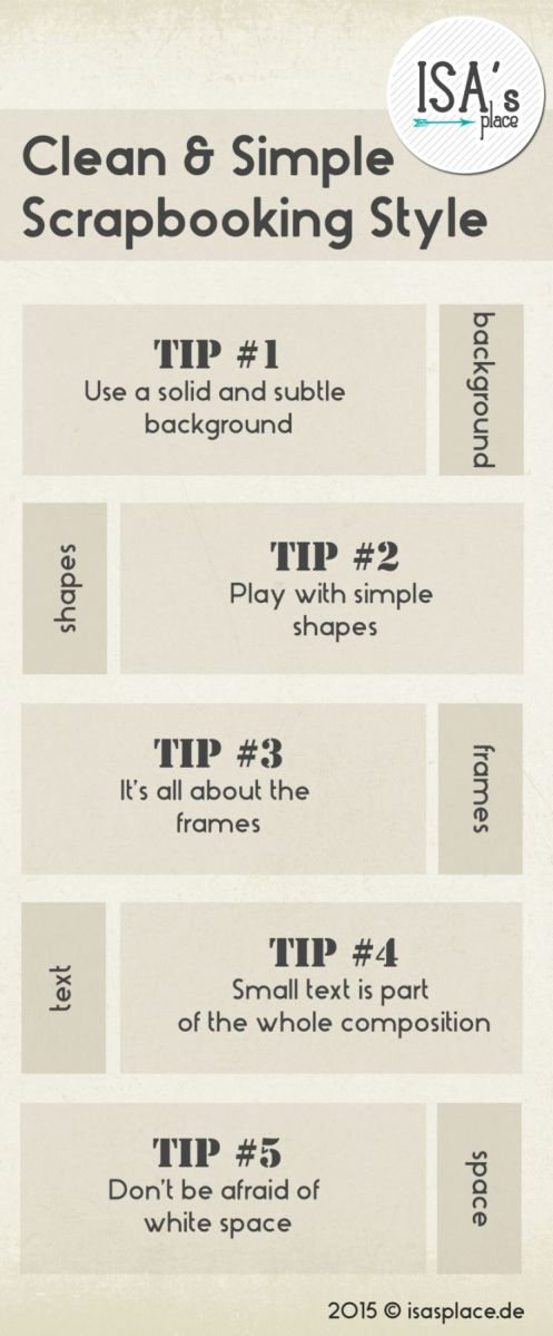 Clean Scrapbooking Style: Ideas