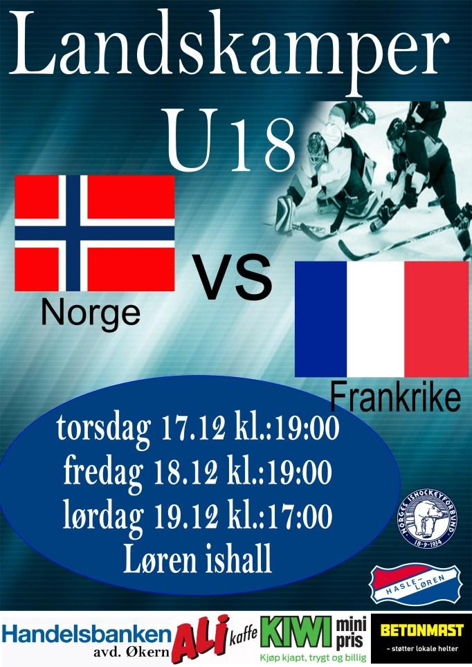 U18 Norge-Frankrike des 2015