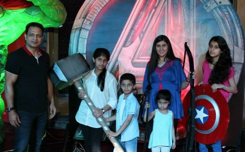 Guests at the premiere of Avengers 2 held at Arena Bahria Town Rawalpindi.