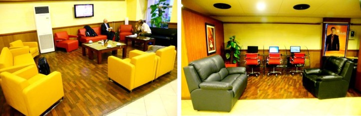 The old Rawal Lounge at Islamabad Airport has been transformed into a 'business lounge' with wifi, reserved for VIPs only.