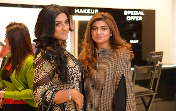 Sofia Syed and Samina Lakhany of Melange at the launch of Inglot Cosmetics in Islamabad