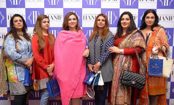 Guests join the launch of Hanif Jewellers store in Islamabad