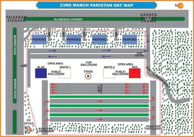 Pakistan Day 23rd March 2016 Traffic Plan