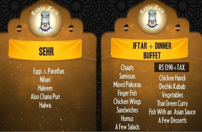 Table Talk Islamabad Ramadan deals
