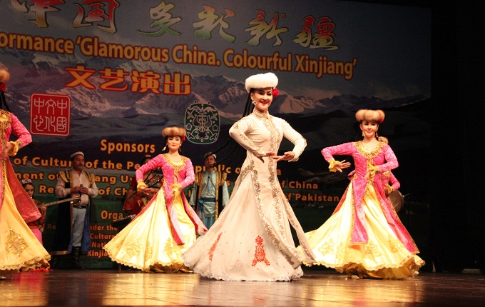 Dancers from Xinjiang perform at cultural event held at PNCA.