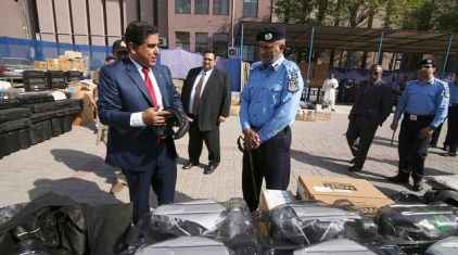 US Embassy donates Law Enforcement Equipment and Vehicles to Islamabad Police and the Pakistan National Police Bureau