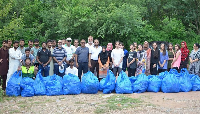 Volunteers clean up Margalla Hills hiking trails in Islamabad