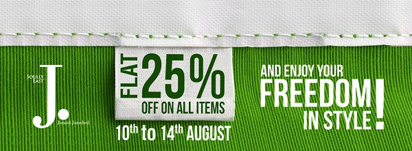 Junaid Jamshed Independence Day sale