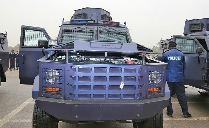 U.S. provides 11 Armored Personnel Vehicles to Pakistani Police