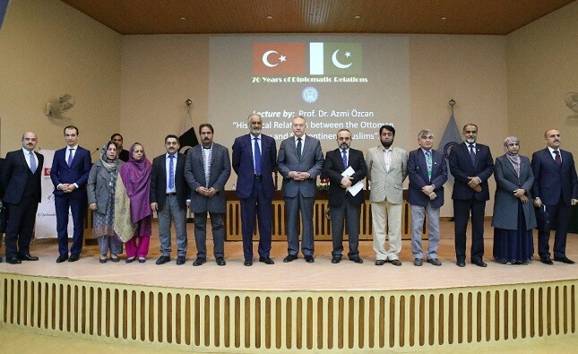 """Turkish language department of National University of Modern Languages (NUML) hosted a lecture by Dr Azmi Ozcan on """"Historical relations between the Ottoman Turkey and Subcontinent Muslims"""""""