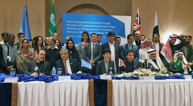 Saudi, UK groups fund solar power panels for KP schools