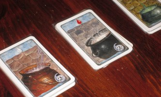 The cauldrons in Witch's Brew. These are the primary way to score points.