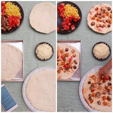 membuat pizza