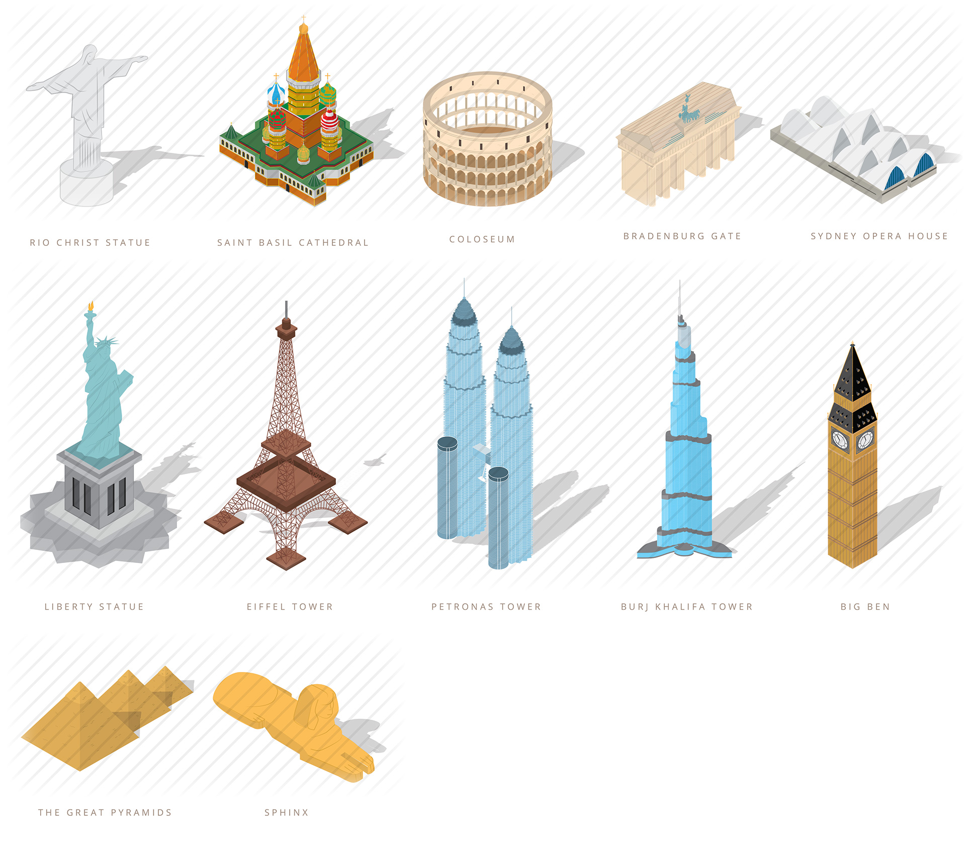 Isometric World Monuments