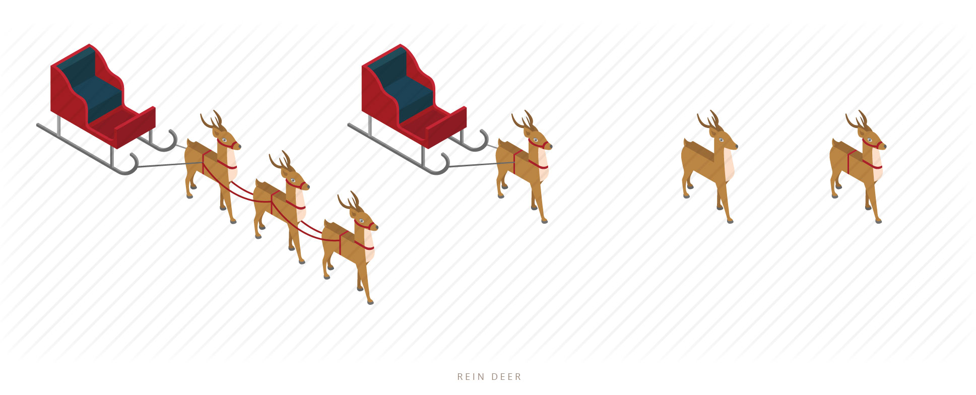 isometric rein deer